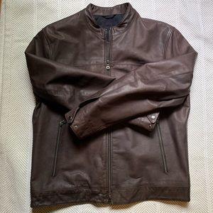 Banana Republic leather jacket-men's